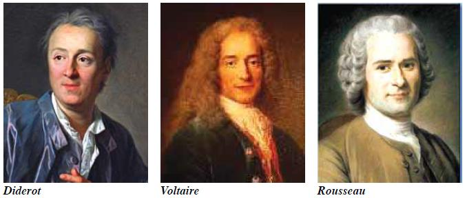 Diderot, Voltaire, Rousseau