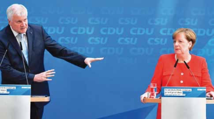 Horst Seehofer ve Angela Merkel