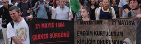 Demokratik Çerkes Harekti'nin Protestosundan