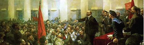 V. İ. Lenin halka konuşurken