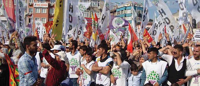 HDP'nin mitinginden bir görüntü