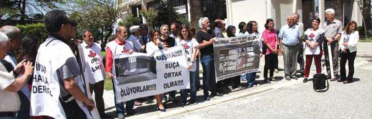 İHD İzmir Şubesi'nin hasta mahpuslara özgürlük eyleminden