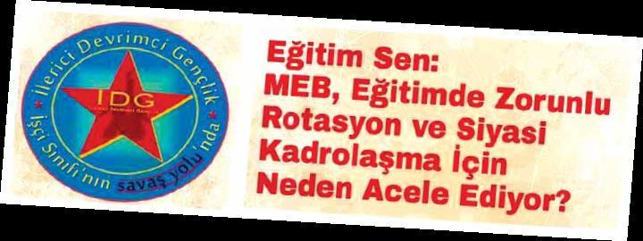 Eğitimde Yorunlu Rotasyon ve Siyasi Kadrolaşma