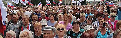 Rusya'da bir yürüyüş